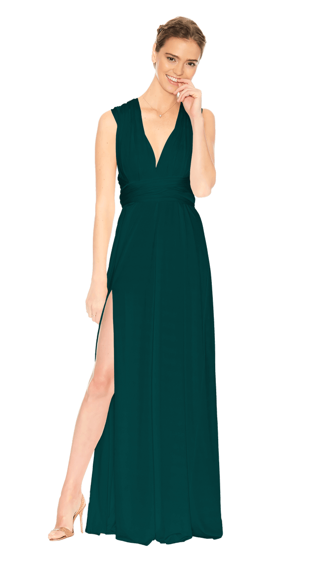 Slit Dress Emerald