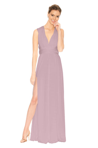 Slit Dress in Heather