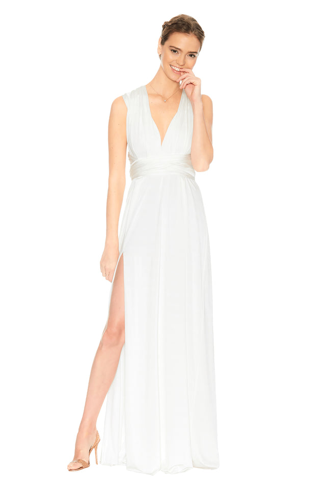 Convertible Slit Dress Ivory