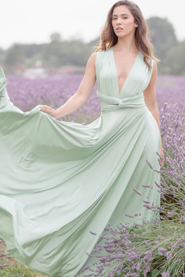 Classic Ballgown in Sage