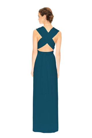 Slit Dress Sea Blue