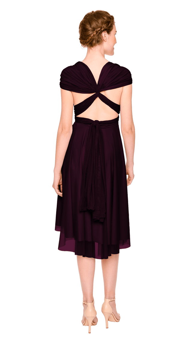 Plum Tulle Short Straight