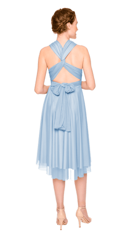 Powder Blue Tulle Short Straight