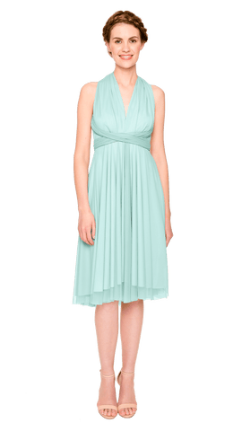 Seafoam Tulle Short Straight
