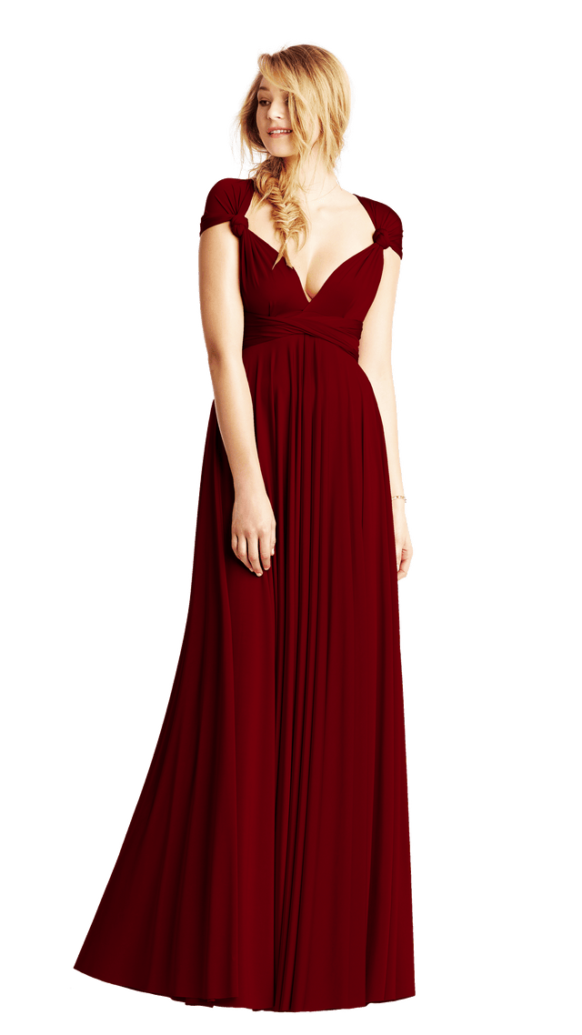 Sample Sale Burgundy Classic Ballgown