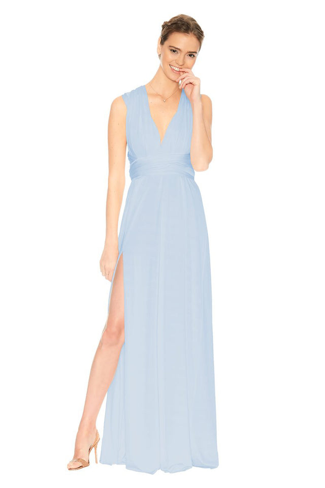 Slit Dress Light Blue