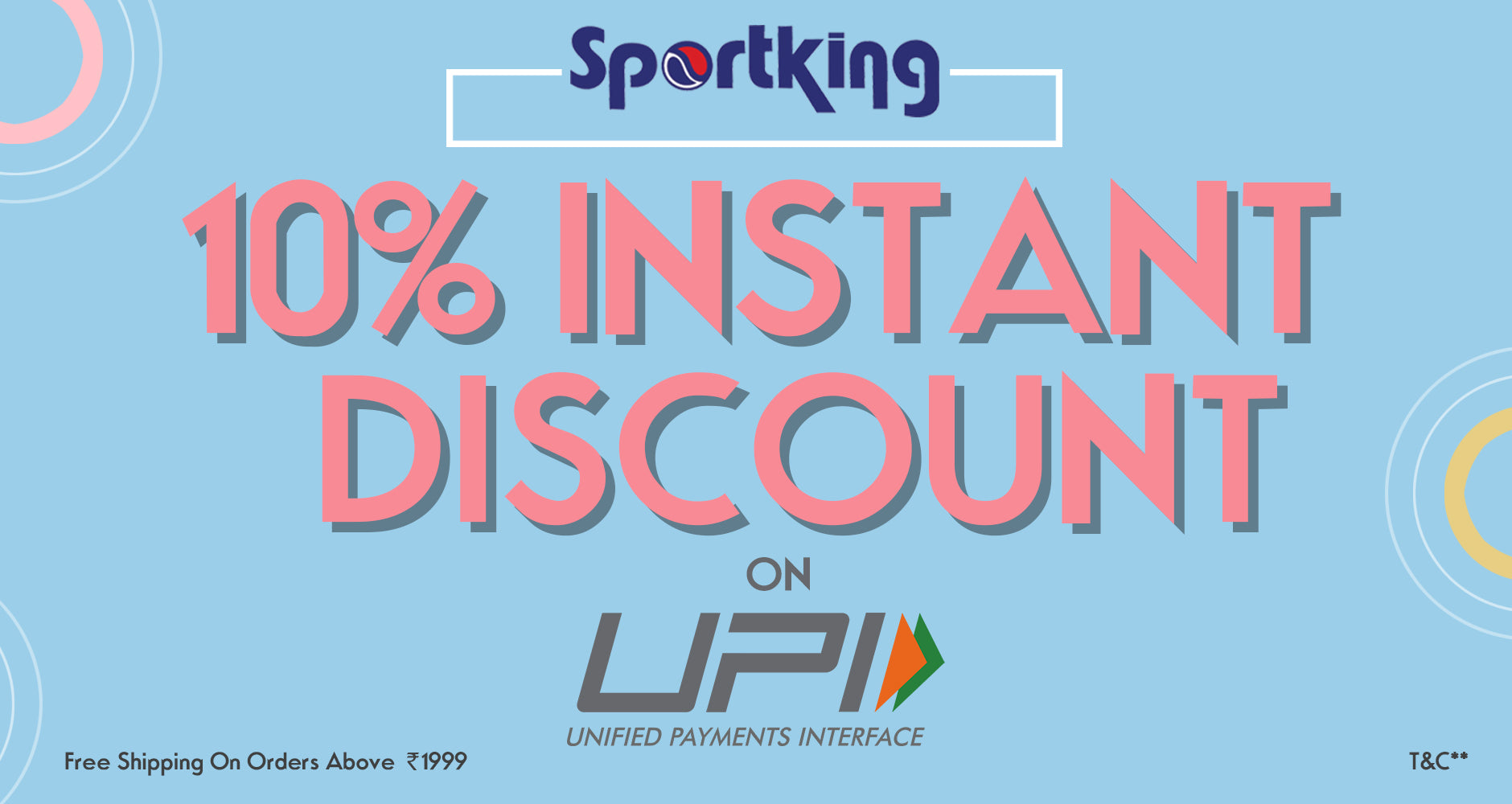 10% Discount on UPI payments