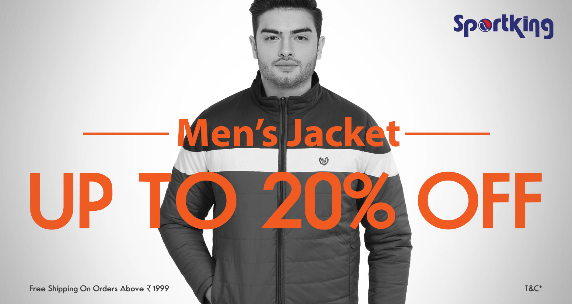 flat 20% off on men's jackets | Sportking