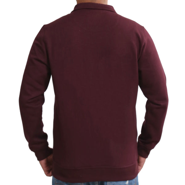 Sportking Men's Wine Solid Sweatshirt