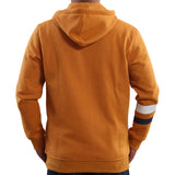 Woodburn Men's Rust Graphic Print Hooded Sweatshirt