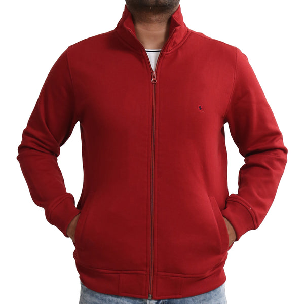 Sportking Men's Mehroon Solid Sweatshirt