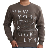 Sportking Men's Olive Graphic Print Sweatshirt