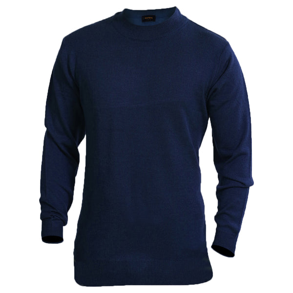 Sportking Men's Ink Blue Solid Sweater