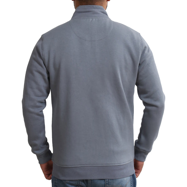 Sportking Men's Grey Lichen Solid Sweatshirt