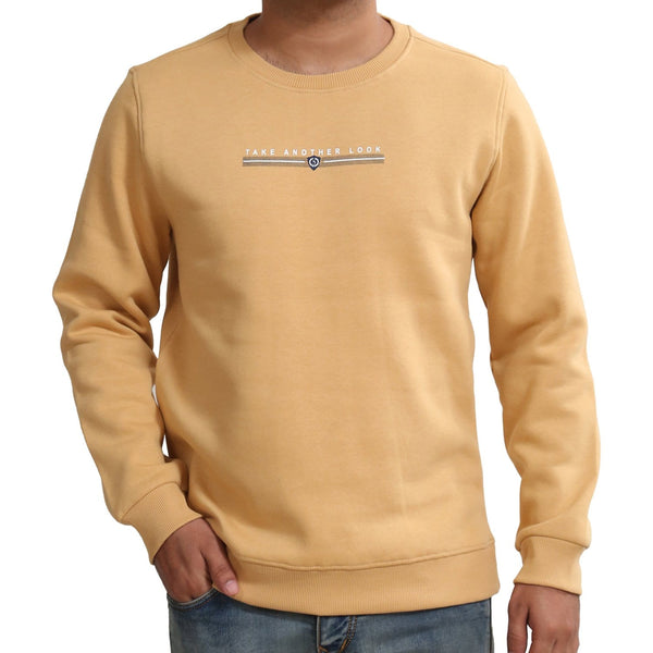 Sportking Men's Yellow Graphic Print Sweatshirt