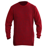 Sportking Men's Solid Red Sweater