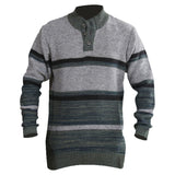 Sportking Men's Grey Striped Sweater