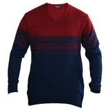 Sportking Men's Mehroon Striped Sweater