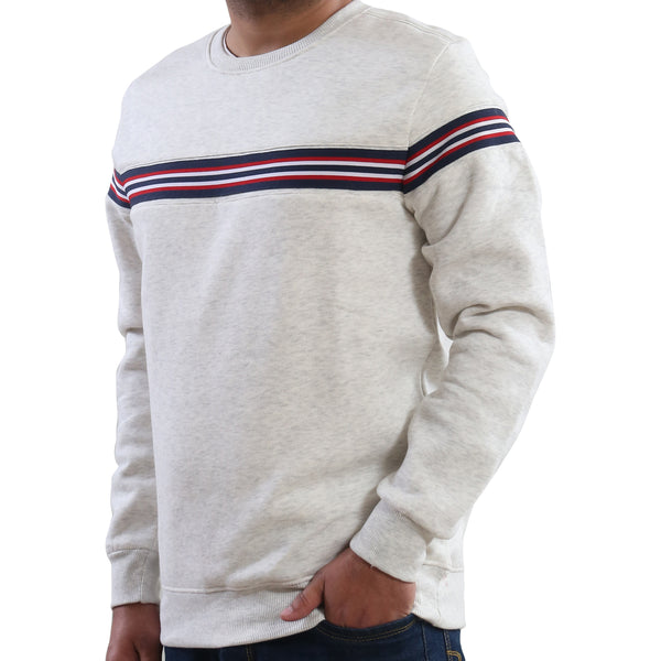 Woodburn Men's Melange Striped Sweatshirt