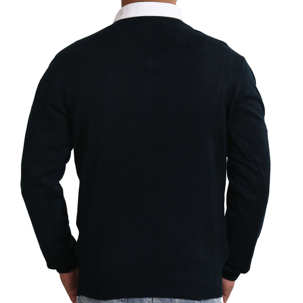Sportking Men's Black Solid Sweater