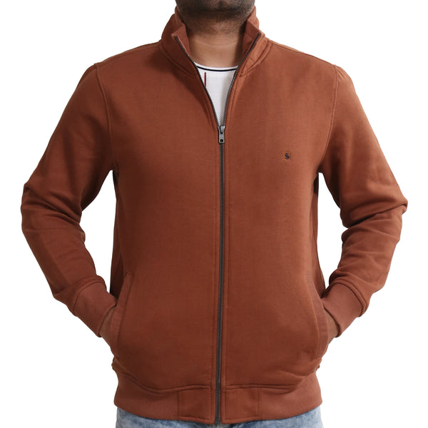 Sportking Men's Coffee Solid Sweatshirt