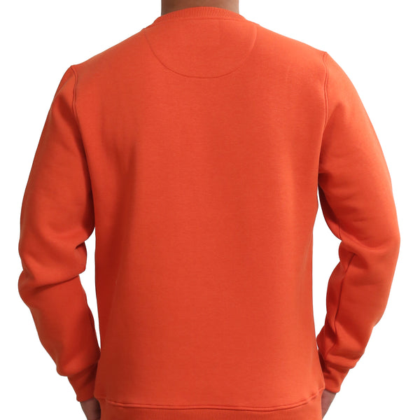 Sportking Men's Orange Graphic Print Sweatshirt