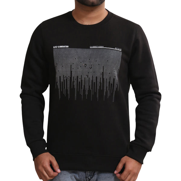 Sportking Men's Black Graphic Print Sweatshirt