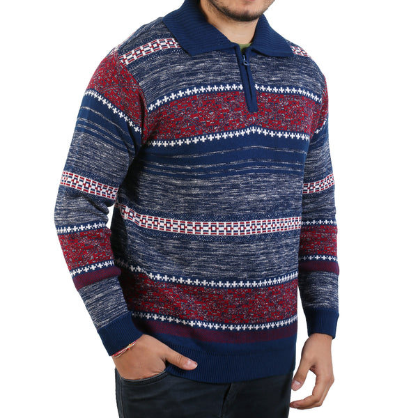 Sportking Men's Navy Striped Sweater