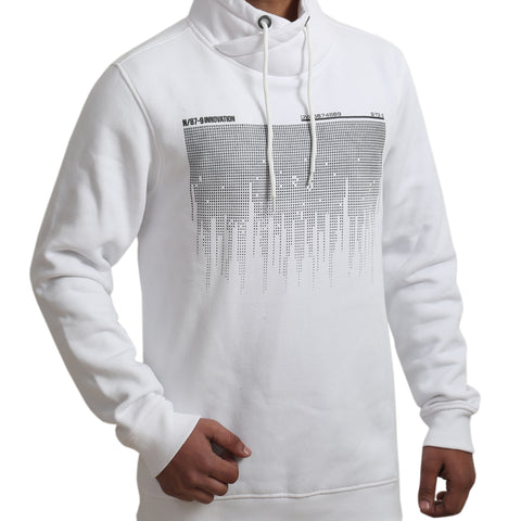 Men White Graphic Print Sweatshirt