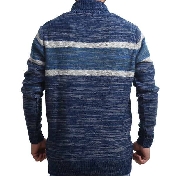 Sportking Men's Striped Navy Sweater