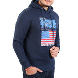 Sportking Men's Navy Graphic Print Hooded Sweatshirt