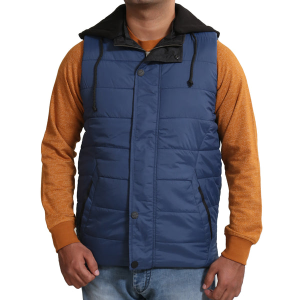 Sportking Men's Denim Blue Hooded Jacket