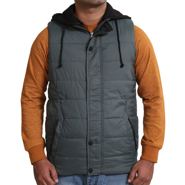 Sportking Men's Green Hooded Jacket