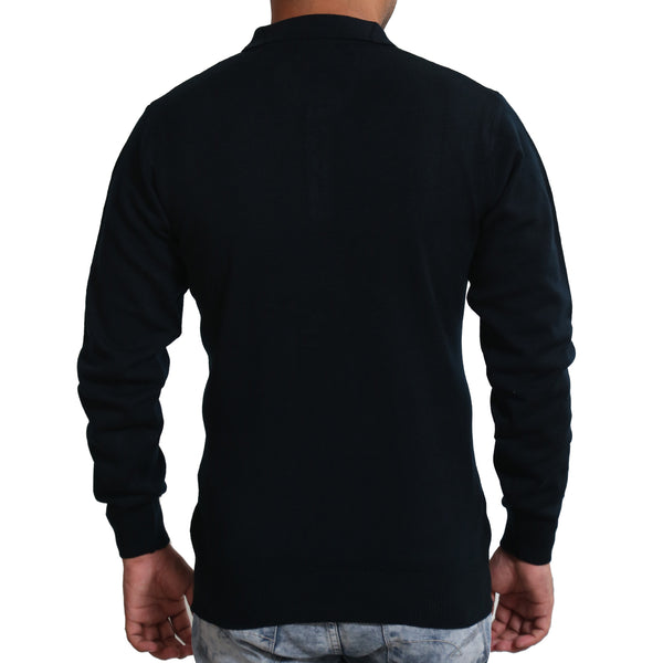 Sportking Men's Navy Solid Sweater