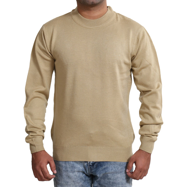 Sportking Men's Beige Solid Sweater