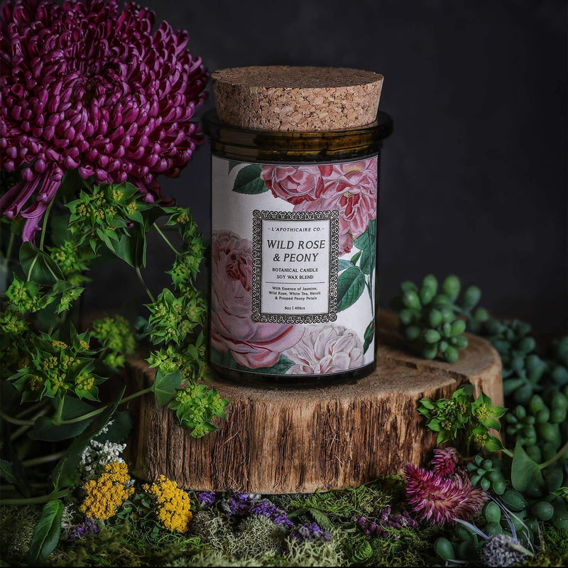 L'apothicaire Co. - BOTANICA | Wild Rose + Peony | Candle