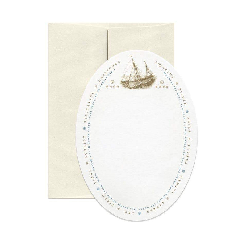 Open Sea - Sailing Oval Greeting Card
