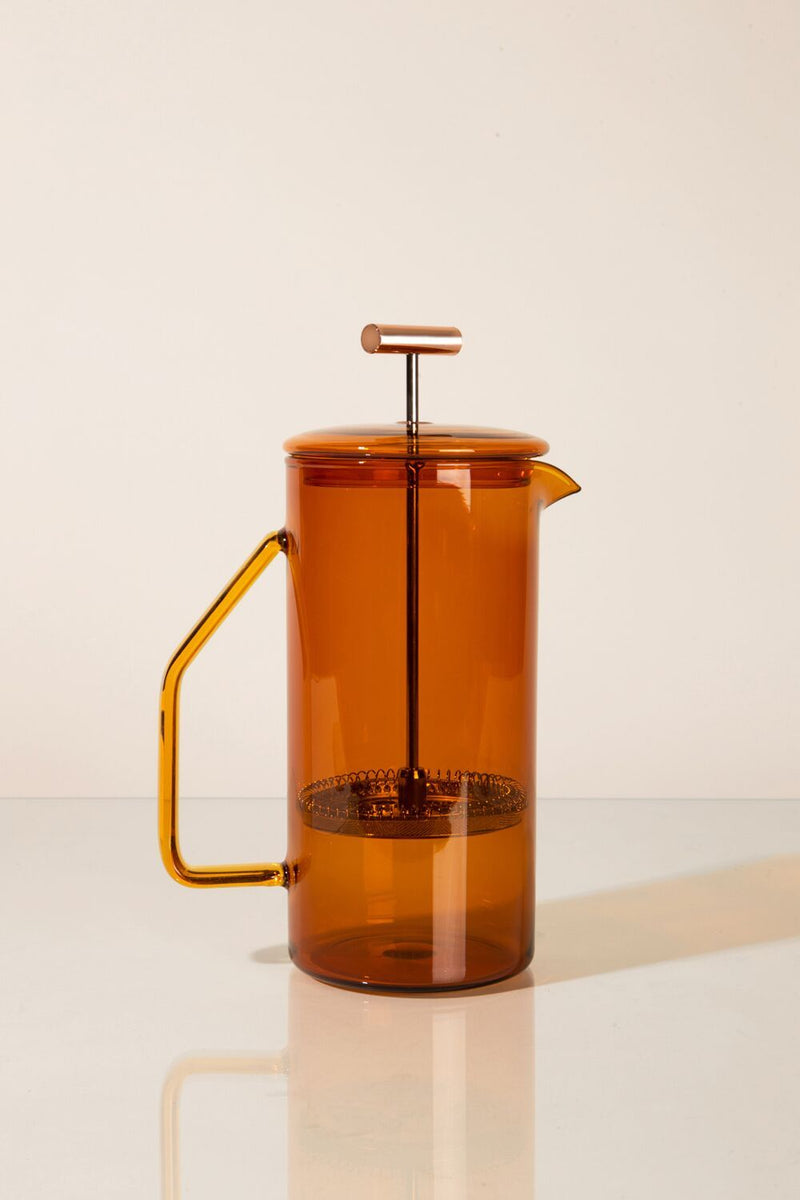 Amber Glass French Press