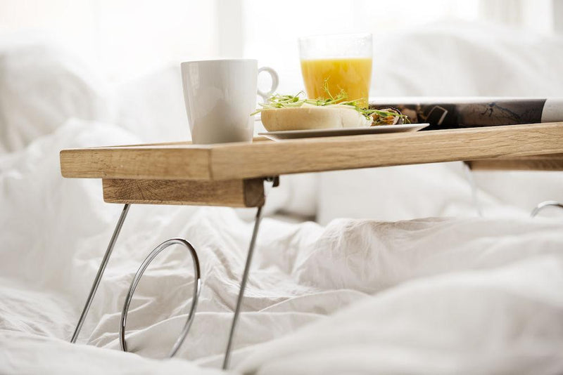 Oak Bed Tray with Folding Legs