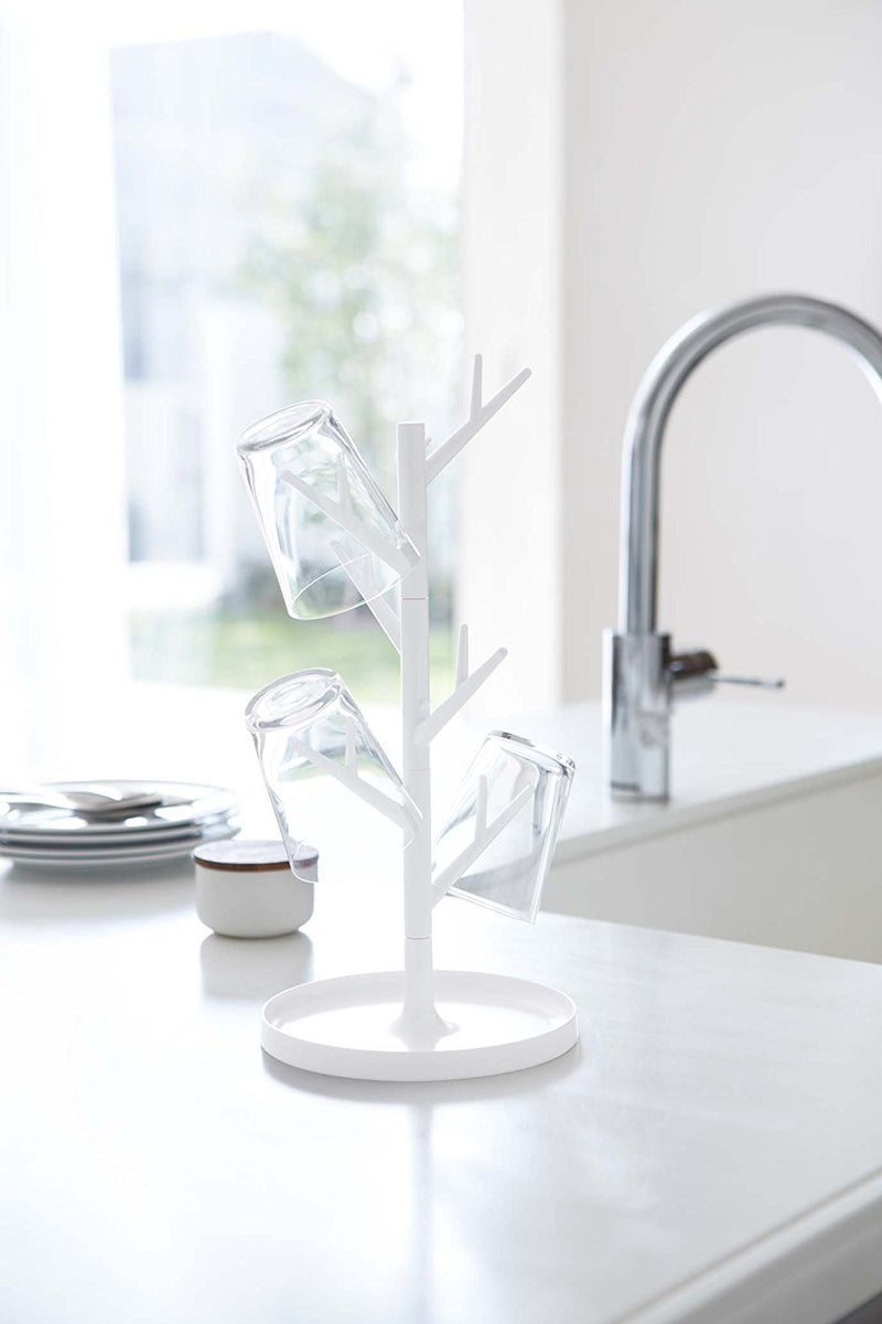 Branch Glass & Mug Tree  - White
