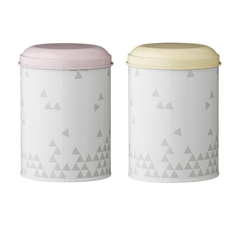 Alberte Canister, Multi-color, Steel