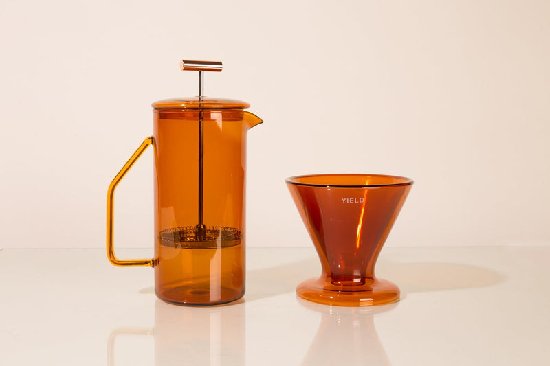 Amber Double-Wall Coffee Maker