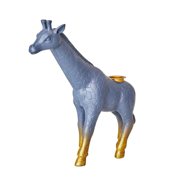 Resin Candle Holder in Giraffe Shape - Glitter Legs