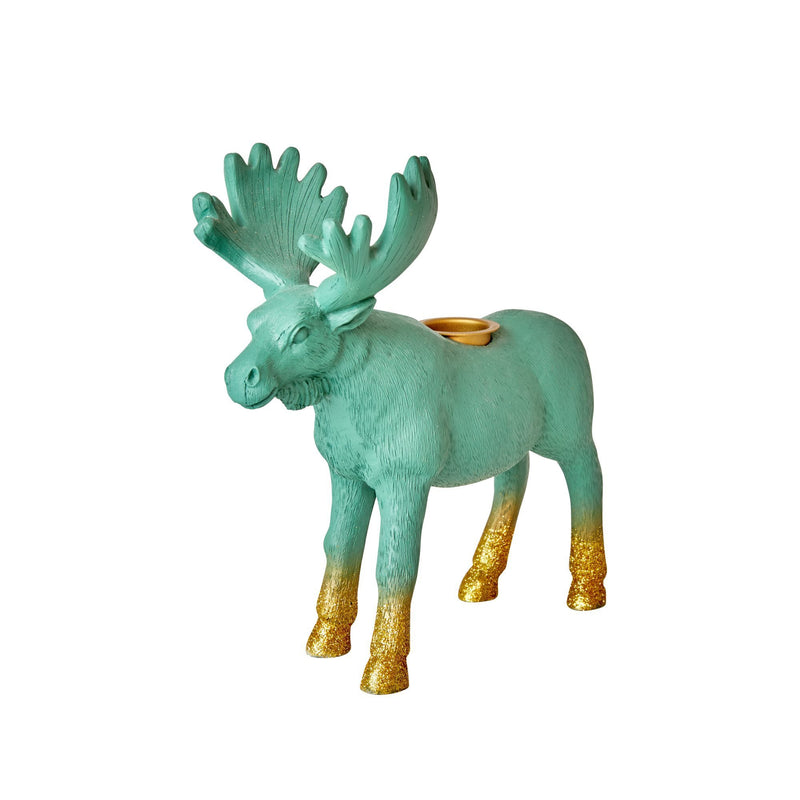 Resin Candle Holder in Moose Shape - Glitter Legs