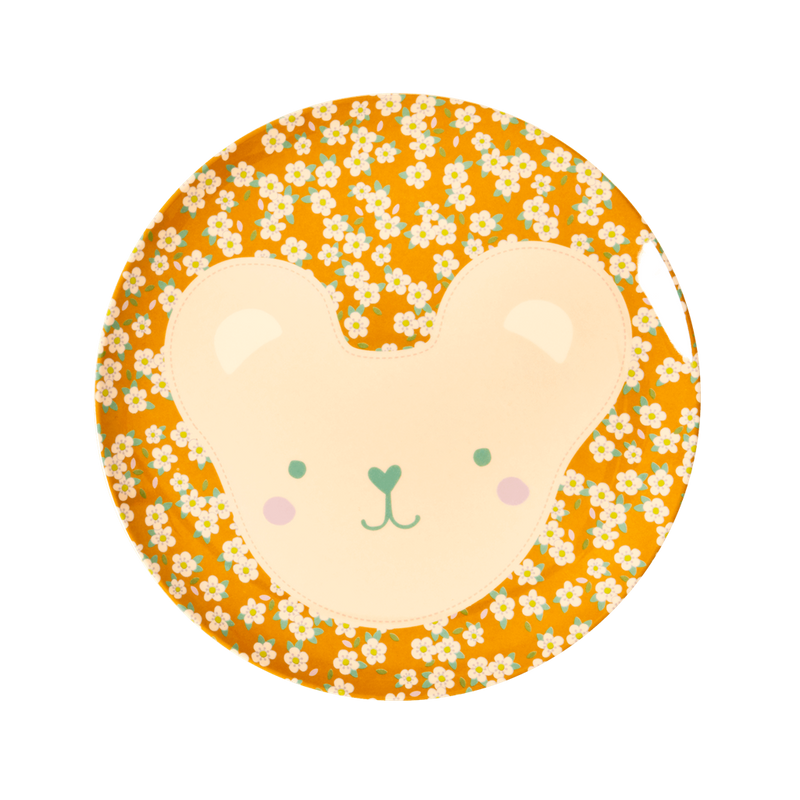 Melamine Kids Plates in 6 Animal Print