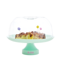 CAKE STAND WITH DOME IN PASTEL GREEN
