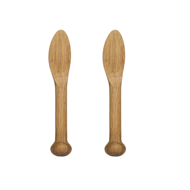Oak Butter Knives - 2 pack