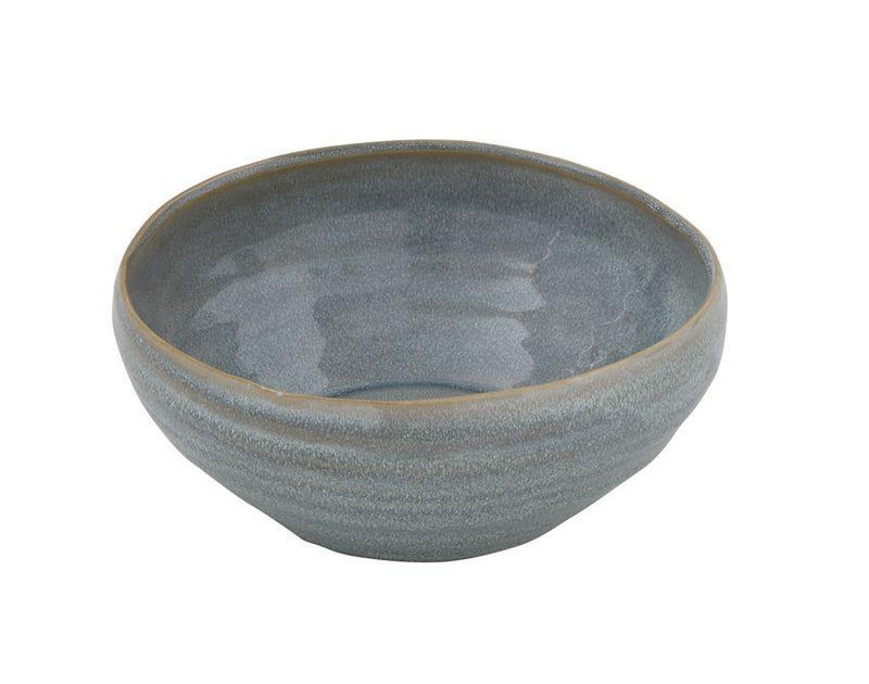 Stoneware Bowl, Blue Reactive Glaze