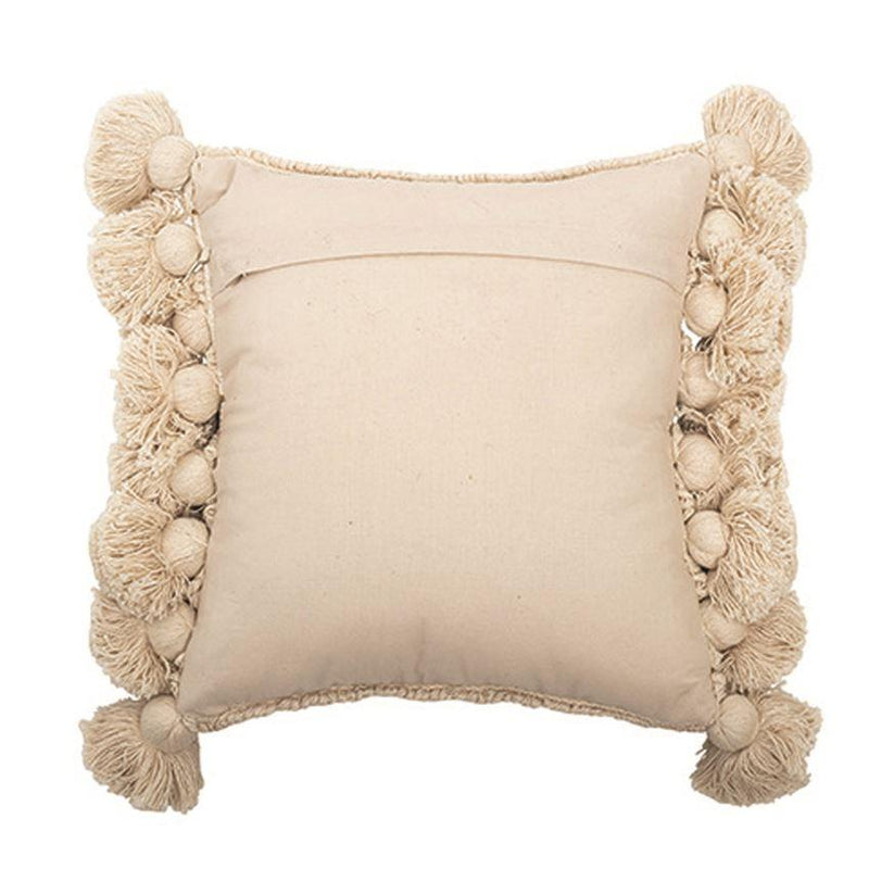 Looped Pillow w/ Gold Metallic Threads & Tassels