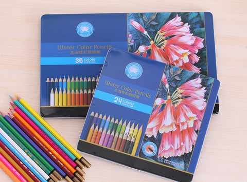Value Set! Watercolor Pencils Set Stationary Tool Professional Drawing Supplies Art Suppliers